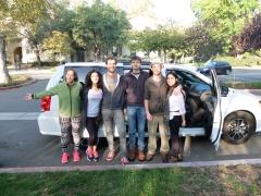 Equipe cosmopolite : Angela (Espagne), Sabrina (Italie), Martin (Allemagne), Louis, Jérémy et moi (France)