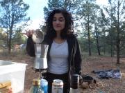 Sabrina qui nous a préparé le meilleur café que nous ayons bu depuis que nous sommes aux Etats-Unis