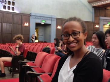 Betty, une de mes étudiantes en français et d'origine éthiopienne. J'adore ses histoires et les conversations que j'ai avec elle.