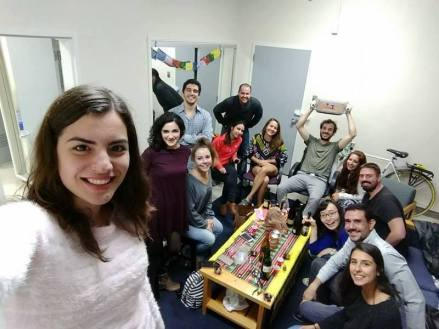 Chez Tamara, pour fêter l'anniversaire de Dafini. N.B. La photo a d'ailleurs été prise par Dafini !