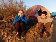 Grete et Tim, étudiant de Harvey Mudd avec qui nous avons sympathisé.