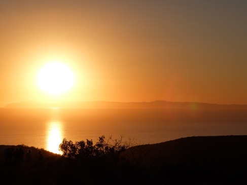 Coucher de soleil sur la très belle île de Catalina !