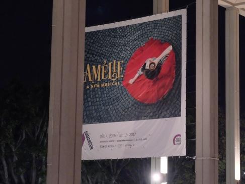 Bien cachée, la fabuleuse affiche d'Amélie, the Musical.