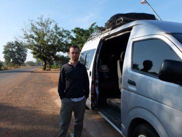 A l'aller, le minivan pour Luang Prabang est plutôt confortable.