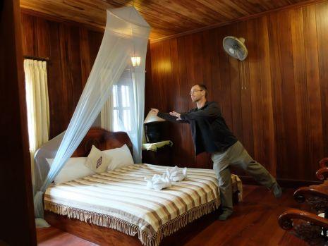 La moustiquaire fait le charme de la chambre...
