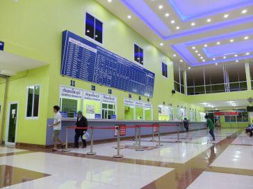 La station de bus au Sud de Vientiane, plus classe que l'aéroport.