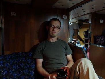 Dans le sleeping bus...