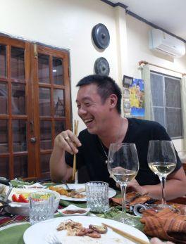 Stéphane... et les baguettes : réveillon français, mais avec une touche asiatique !