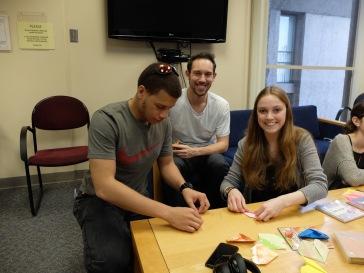 Jordan (un étudiant de mon cours le semestre dernier), Evan et Michelle