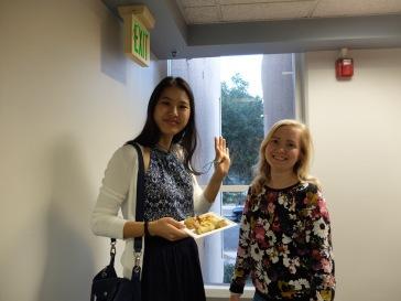 Ariane (toujours avec son assiette)et Leisan
