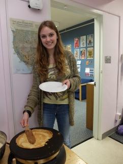 Michelle, une de mes étudiantes, qui vient d'Allemagne