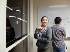 Sara, étudiante qui vit dans le couloir allemand, mais qui parle aussi français. Elle est aussi devenue ma professeur de kung-fu ce semestre !
