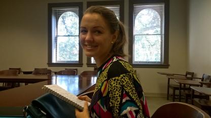 En cours de philosophie, avec Grete !