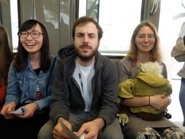 Avec Marija sur la droite, et la tête toujours impayable de Martin.