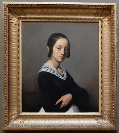 """Jean-François Millet, """"Portrait de Louise-Antoinette Feuardent"""", 1841 : un portrait à l'expression que je trouve un peu revêche. Inspirant !"""