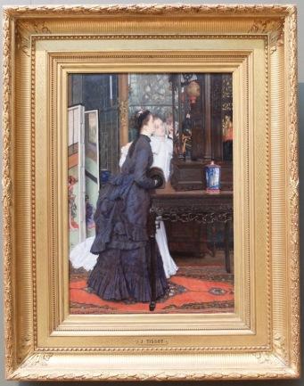 """James Tissot, """"Jeunes femmes admirant des objets japonais"""", 1869. Coucou jolies curiosités japonistes !"""