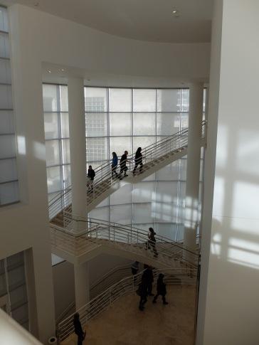 A l'intérieur du Getty : j'adore cette architecture extrêmement lumineuse !