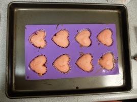 Cupcakes roses sortis du four !