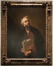 """Juseppe de Ribera, """"Un philosophe"""", 1637. J'aime ses mains qui tiennent cette liasse de feuilles de papier travaillées, écornées, déchirées."""