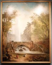 """Hubert Robert, """"Escalier et fontaine dans le parc d'une villa romaine"""", 1770. Magnifique !"""