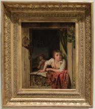 """Martin Drölling, """"Peinture et Musique (portrait du fils de l'artiste)"""", 1800."""