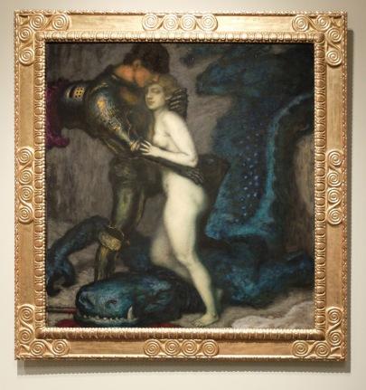 """Franz Von Stuck, """"Le tueur de dragon"""", 1913"""