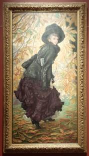"""James Tissot, """"Octobre"""", 1877 : avec un style japoniste assez subtil."""