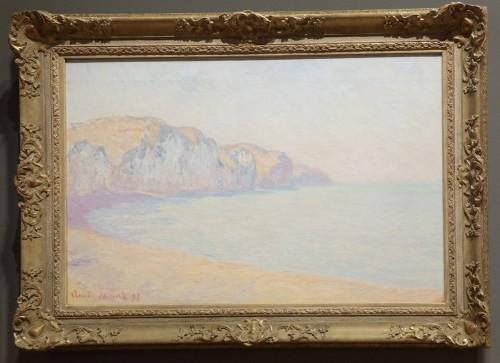"""Claude Monet, """"Falaises de Pourville, le matin"""", 1897 : bon, j'avoue. J'ai cru initialement que c'était un Paul Signac."""