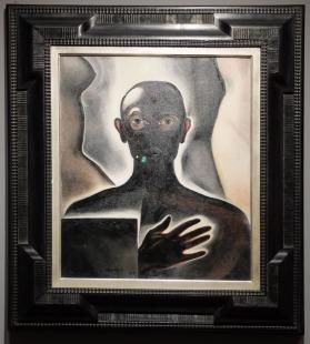 """Alberto Martini, """"Autoportrait"""", 1929 : Mon préféré ! Il se passe plein de choses dans ce tableau surréaliste... Je l'apprécie d'autant plus que je viens de revoir le film Renaissance de Christian Volckman avec son esthétique si particulière, et en même temps si fluide et parlante."""