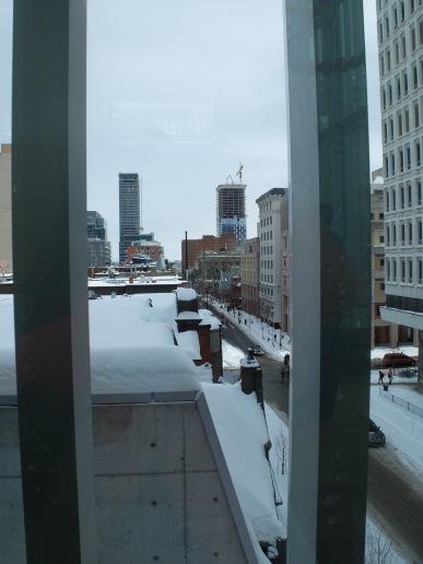 La vue depuis le musée.