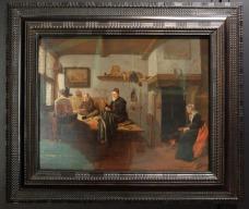 """Quiringh van Brekelenkam, """"Intérieur de l'atelier d'un tailleur"""", 1655-1660 : je ne sais pas pourquoi j'aime ces compositions minutieuses représentant des intérieurs. La lumière, les couleurs, la simplicité. C'est au Getty que je me suis rendue compte à quel point j'apprécie ce genre de peinture."""