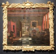 """Emanuel de Witte, """"Intérieur avec une femme jouant du virginal"""", 1660-1667 : encore une scène d'intérieur d'origine hollandaise."""