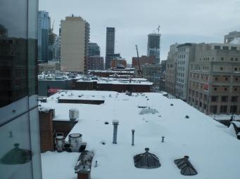 Toits recouverts de neige.