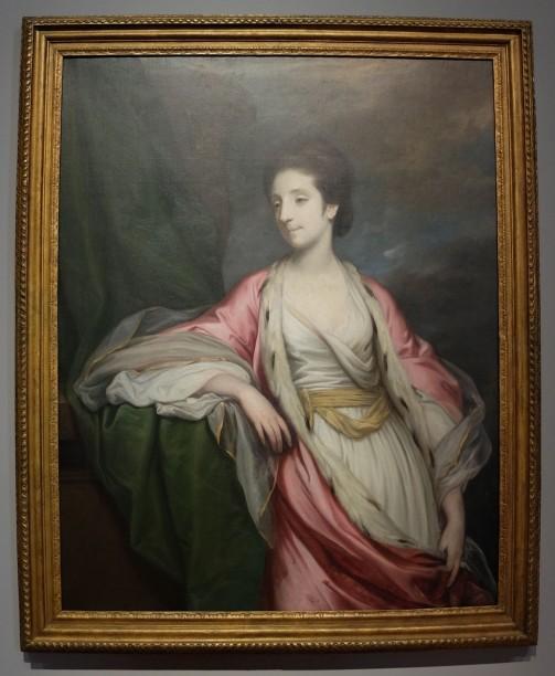 """Joshua Reynolds, """"Portrait de Christiana Hely-Hutchinson, future baronne Donoughmore of Knocklofty"""", 1766. Elle a un nom à coucher dehors, mais j'aime l'allure générale de cette femme, un peu sensuelle, de style un peu orientalisant, mais avec beaucoup de retenue et de réserve. Son visage m'est familier, cependant je ne retrouve pas la personne à qui elle me fait penser."""