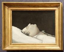 """Denzil O. Ibbetson, """"L'empereur Napoléon sur son lit de mort"""", 1821. Il fait partie d'une autre salle dédiée à Napoléon. Ce tableau est vraiment étrange : je le trouve très """"moderne"""" pour l'époque !"""