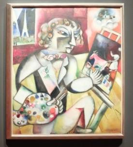 """Marc Chagall, """"Autoportrait aux sept doigts"""", 1912."""