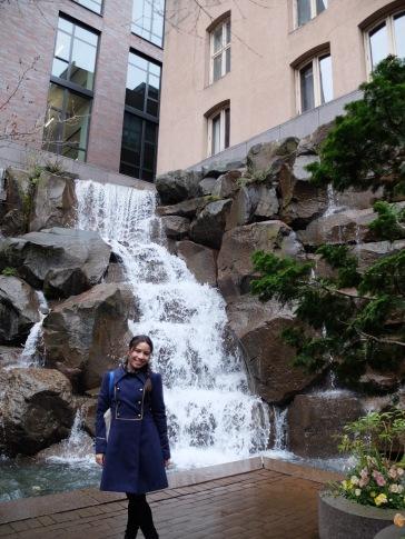 ...une chute d'eau en plein coeur de la ville.
