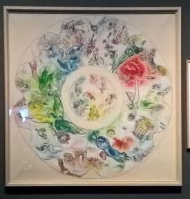 Une représentation du plafond réalisé par Chagall pour l'opéra de Paris. Je n'ai malheureusement pas noté la date...