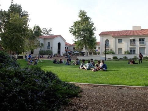 Le campus s'avère parfait pour un pique-nique !