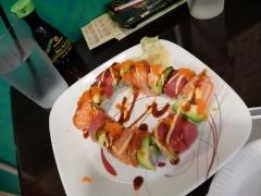 Plateau de sushis lors de notre première visite au restaurant Avina.