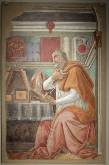"""Sandro Botticelli, """"Saint Augustin dans son cabinet de travail"""", 1480. J'ai un peu de mal à résister au petit côté """"collection"""", """"curiosités"""", """"savoir"""", """"bibliothèque"""",..."""