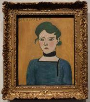 """Henri Matisse, """"Marguerite"""", 1906-1907 : la fille d'Henri Matisse, dans un portrait vivant et simple. Il la repeindra quelques années plus tard, mais le visage aura déjà quelque chose de plus grave et de moins frais. Etonnant comme les années passent et marquent..."""
