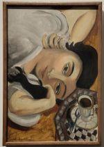"""Henri Matisse, """"Lorette à la Tasse de Café"""", 1917 : Le même modèle que """"La Femme Italienne"""" à gauche, et pourtant, l'ambiance et l'expression ont complètement changé !"""