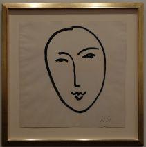 """Henri Matisse, """"Grand Visage (Masque)"""", 1952 : simple, mais expressif, un peu comme certains dessins de Picasso.."""