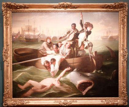 """John Singleton Copley, """"Watson et le Requin"""", 1778 : les Dents de la Mer, avec quelques années d'avance. Brr..."""