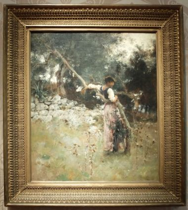 """John Singer Sargent, """"Une capriote"""", 1878 : tout en douceur et en fleurs..."""