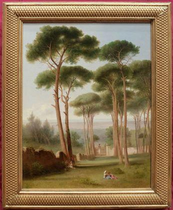 """John Gadsby Chapman, """"Pins de la Villa Barberini"""", 1856 : je me disais que ça sentait les vacances aussi..."""