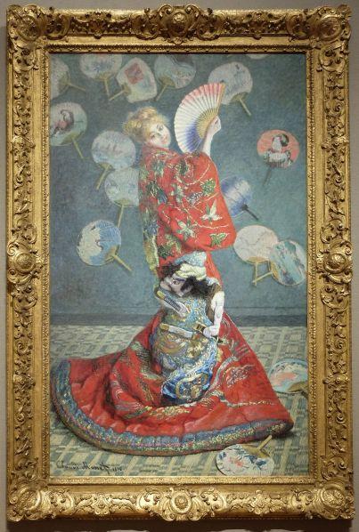 """Claude Monet, """"La Japonaise (Camille Monet en costume japonais)"""", 1876. J'ignorais que mon tableau préféré se trouvait ici ! J'ignorais aussi à quel point il été grand ! Bref, c'était le moment très émouvant de cette visite et j'y repense d'ailleurs avec beaucoup d'émotion..."""