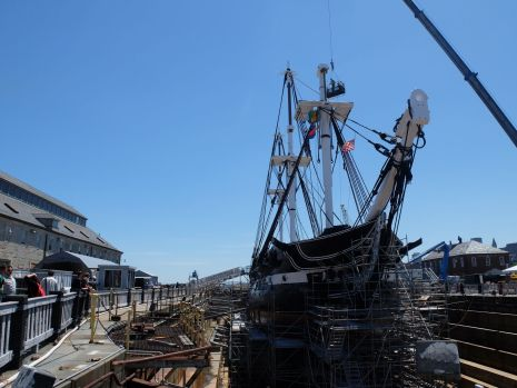 Le USS Constitution, vieux navire datant de 1797. Il vient juste d'être restauré et partira naviguer dès juillet !