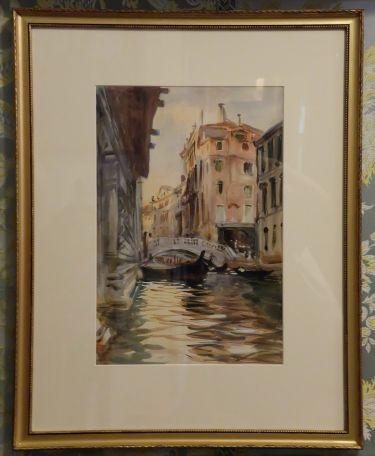"""John Singer Sargent, """"Ponte della Canonica"""", 1903-1907 : le petit clin d'oeil vénitien."""